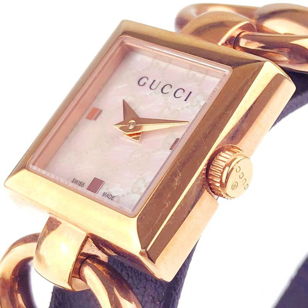 Gucci \N Uhr in  Weiss Stahl