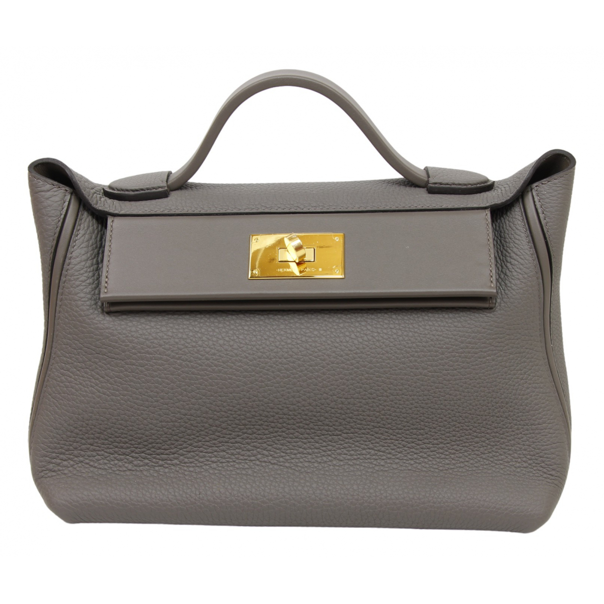 Hermès 24/24 Grey Leather handbag for Women \N