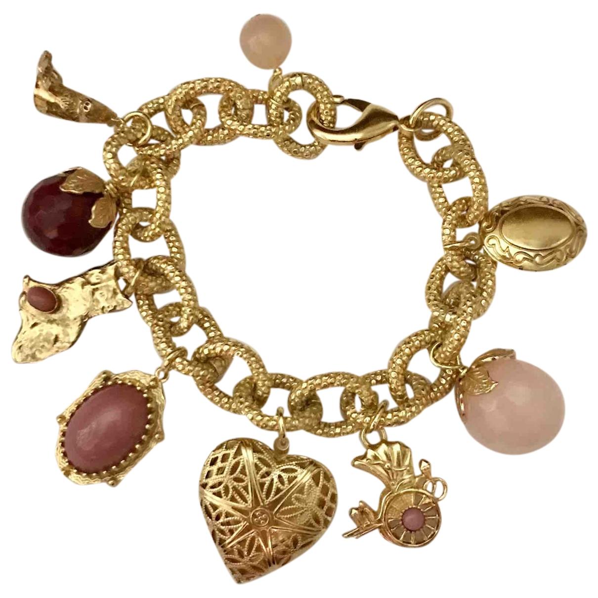 - Bracelet Motifs Coeurs pour femme en metal - dore