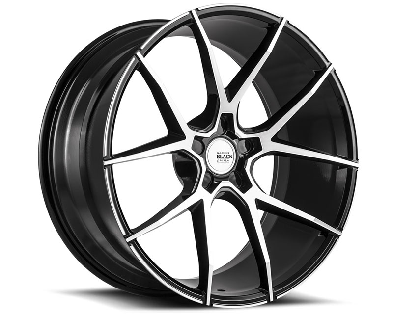 Savini BM14-22090545M2879 di Forza Machined Black with Black Lip BM14 Wheel 22x9.0 5x114.3 28mm