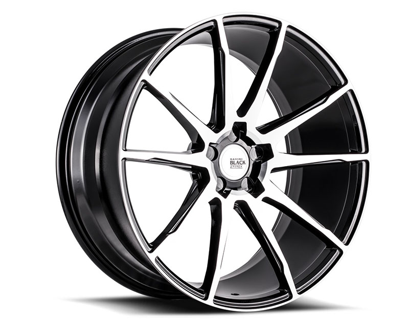 Savini BM12-19095547M1579 di Forza Machined Black with Black Lip BM12 Wheel 19x9.5 5x120.65 15mm