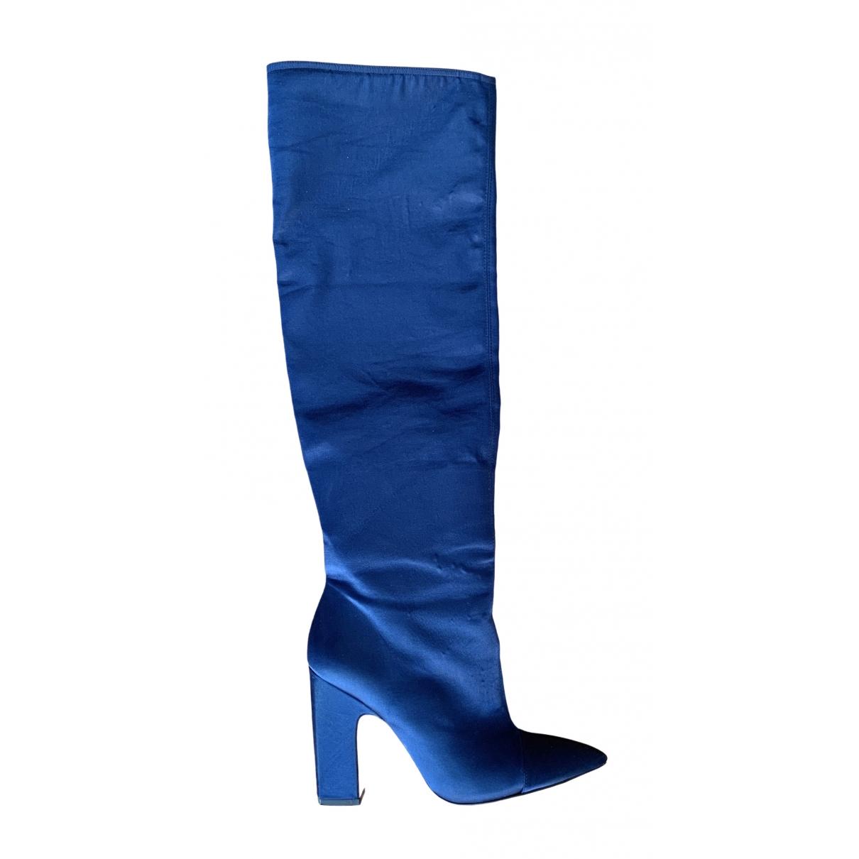 Zara - Escarpins   pour femme en toile - bleu