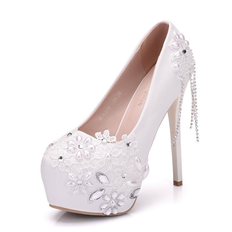 Ericdress Rhinestone Fringe Platform Stiletto Heel Wedding Shoes