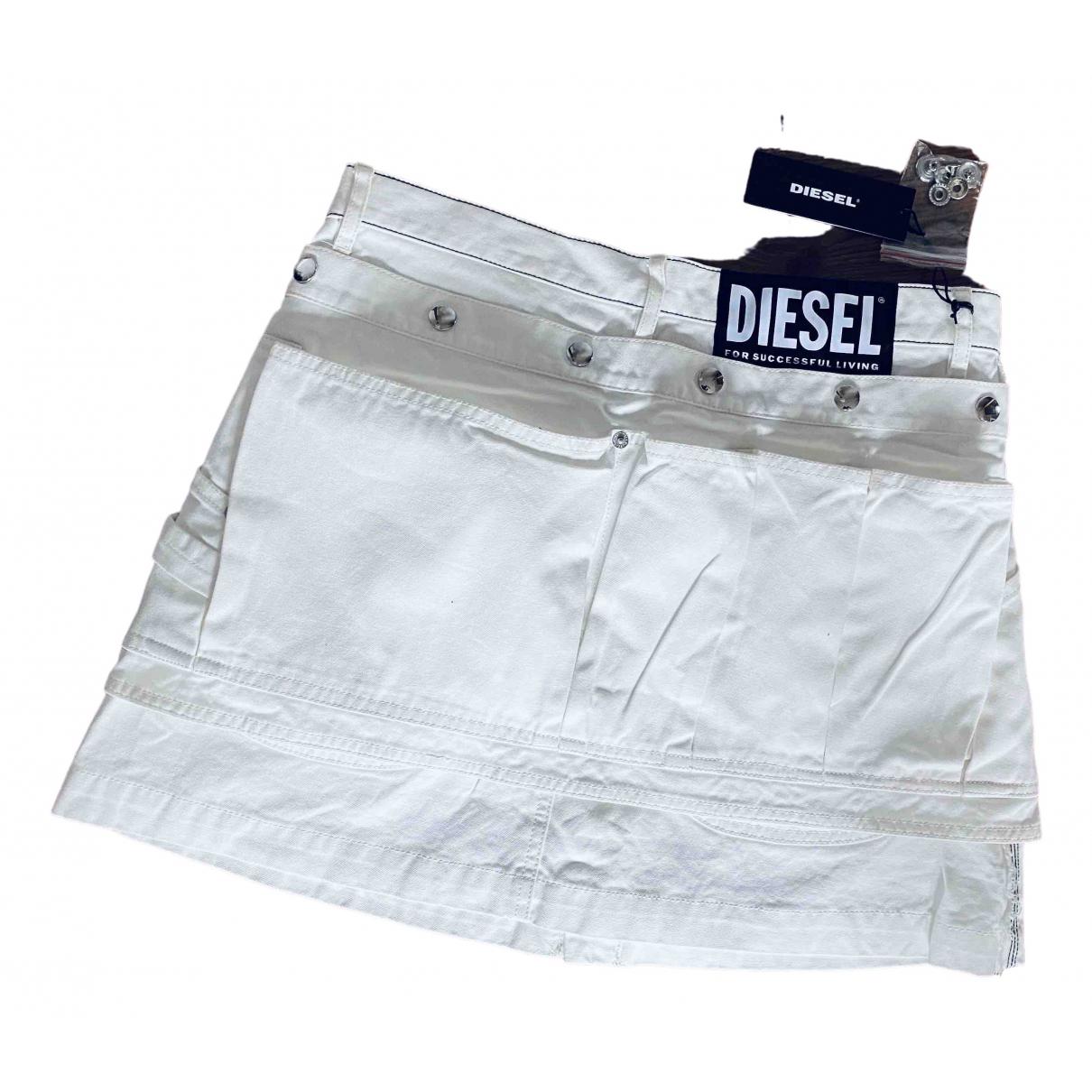 Diesel \N Rocke in  Ecru Baumwolle