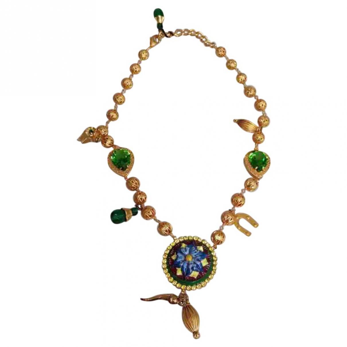 Dolce & Gabbana - Collier   pour femme en metal - dore