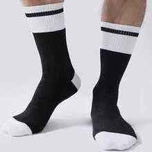 Men Striped Pattern Socks