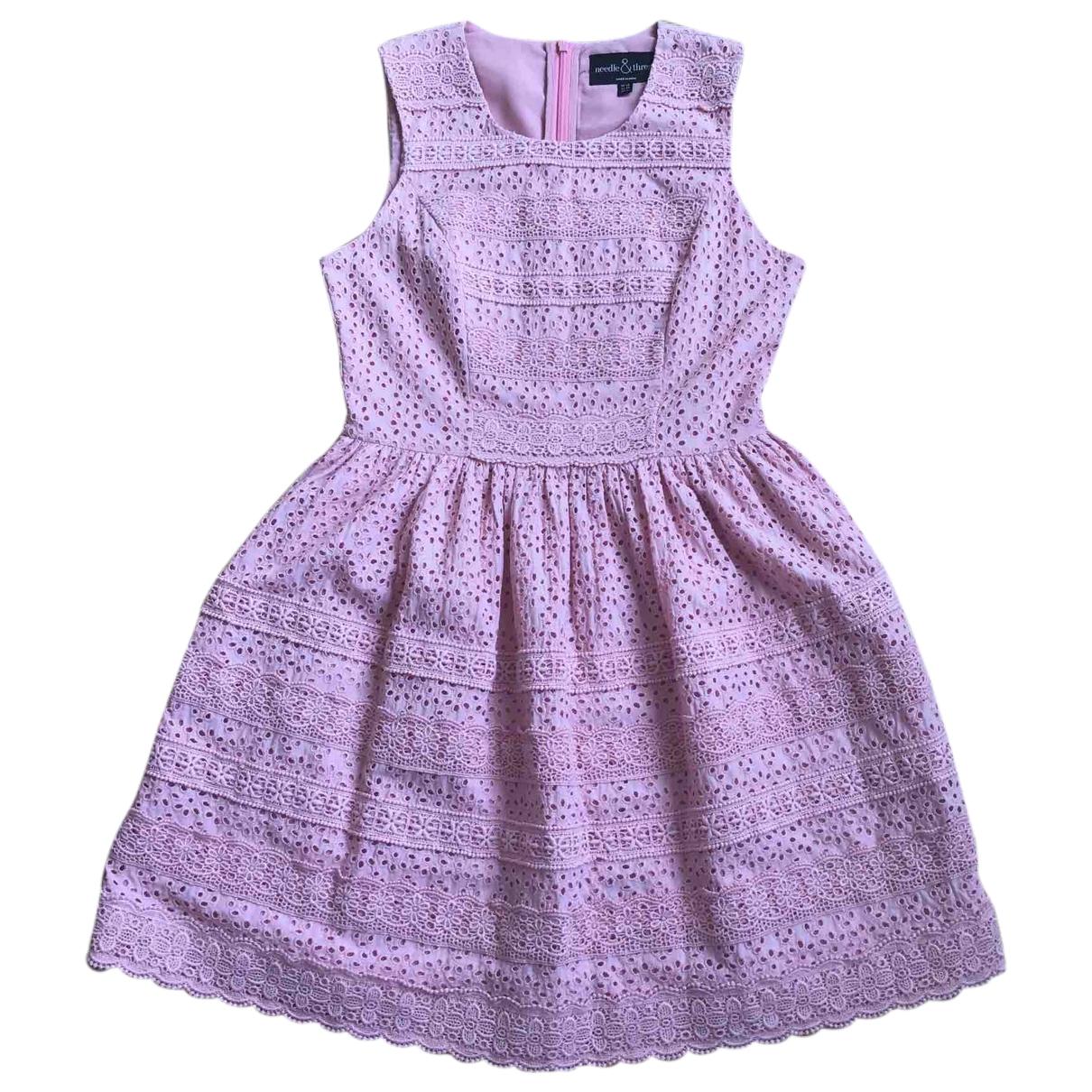 Needle & Thread \N Kleid in  Rosa Baumwolle