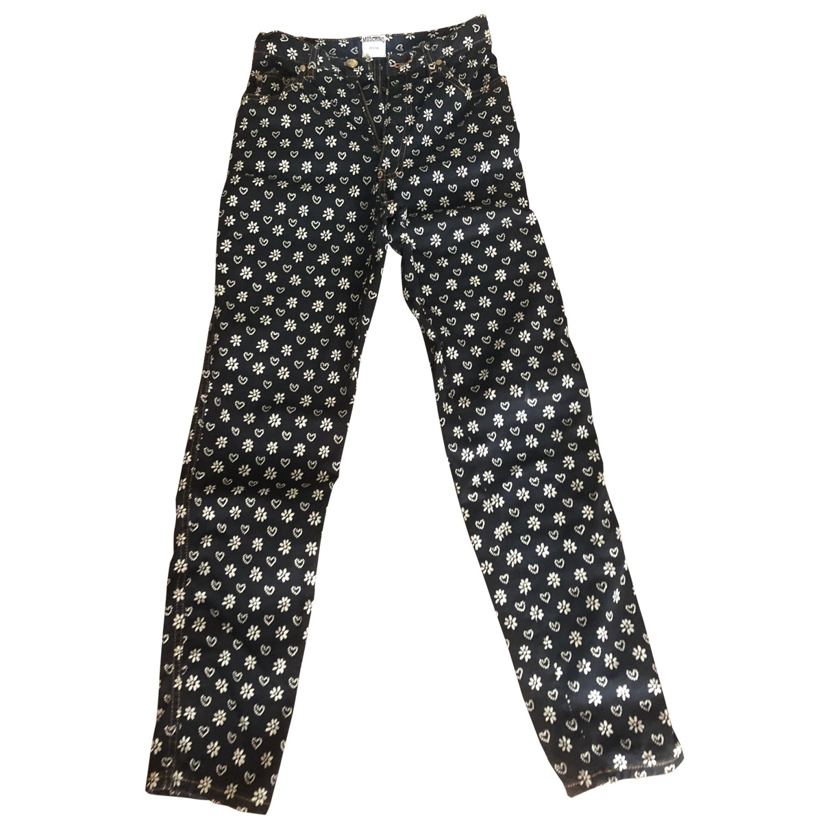 Moschino Cheap And Chic \N Black Cotton Trousers for Women 38 IT