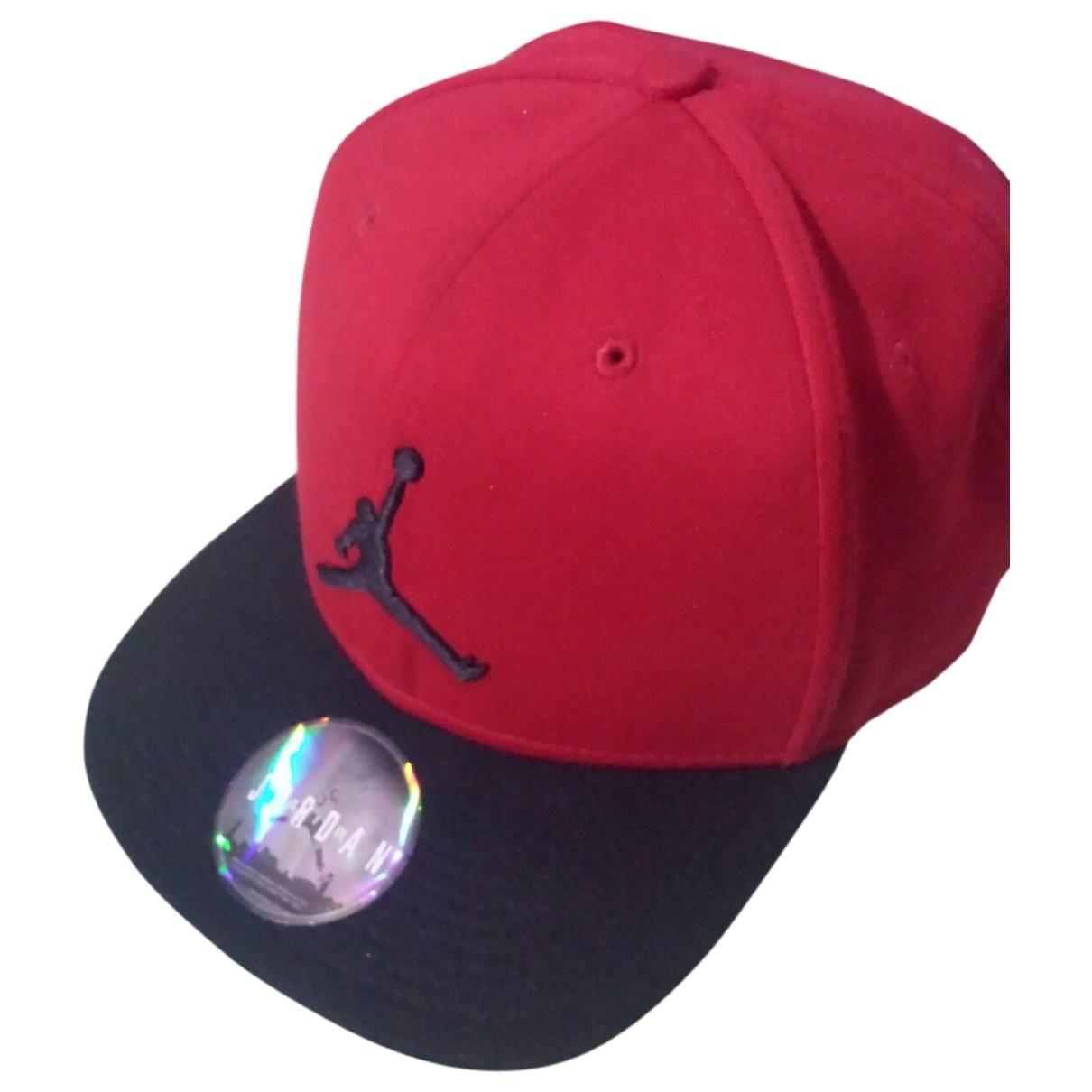 Jordan - Chapeau & Bonnets   pour homme en coton - rouge