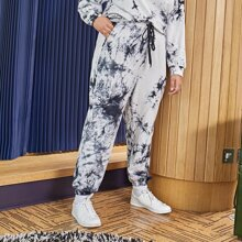 Pantalones Extra Grande Cordon Tie-Dye Casual