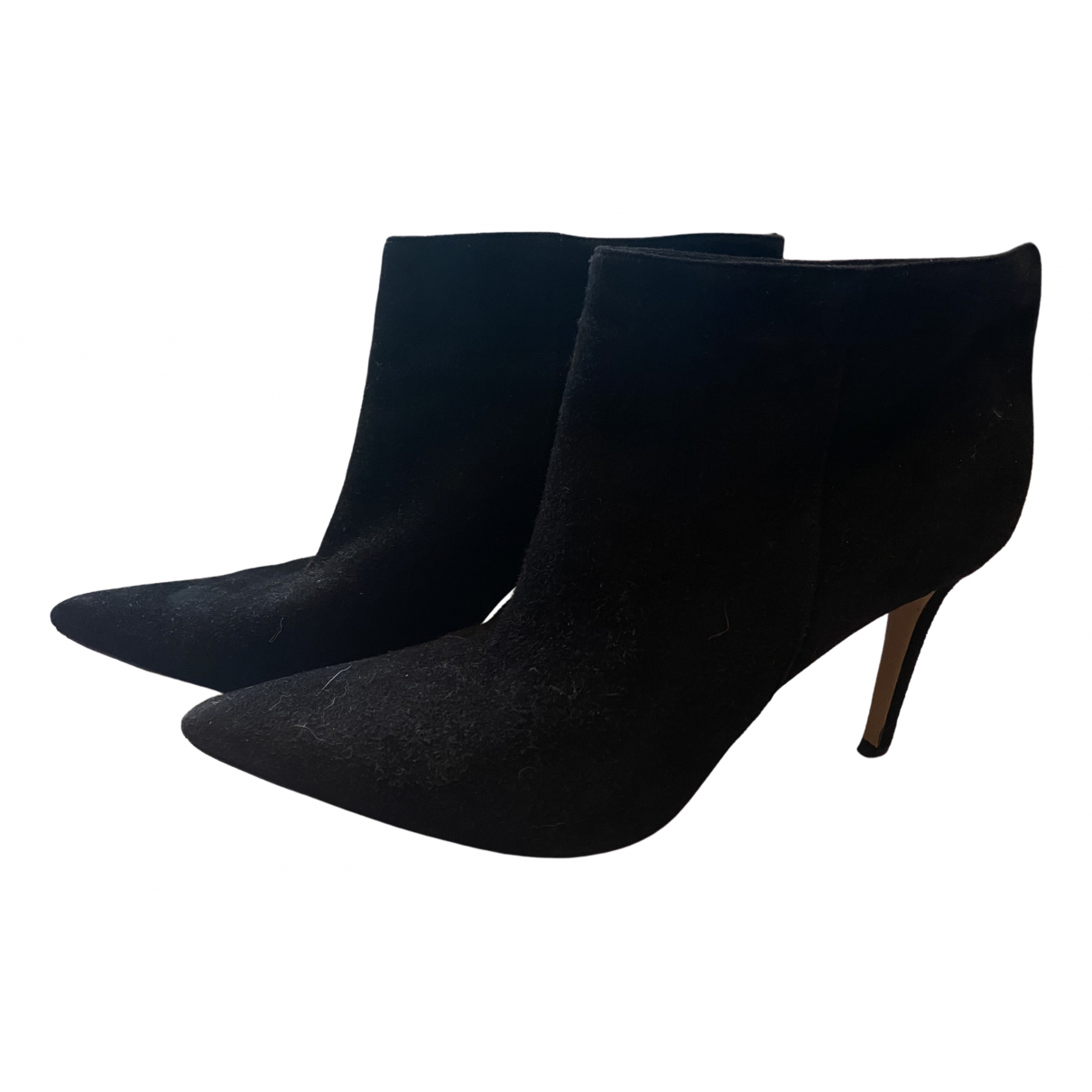 Gianvito Rossi \N Black Suede Ankle boots for Women 38 EU