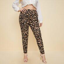 Leggings mit Leopard Muster und Riss