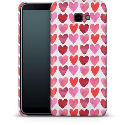 Samsung Galaxy J4 Plus Smartphone Huelle - Heart Watercolour von Amy Sia