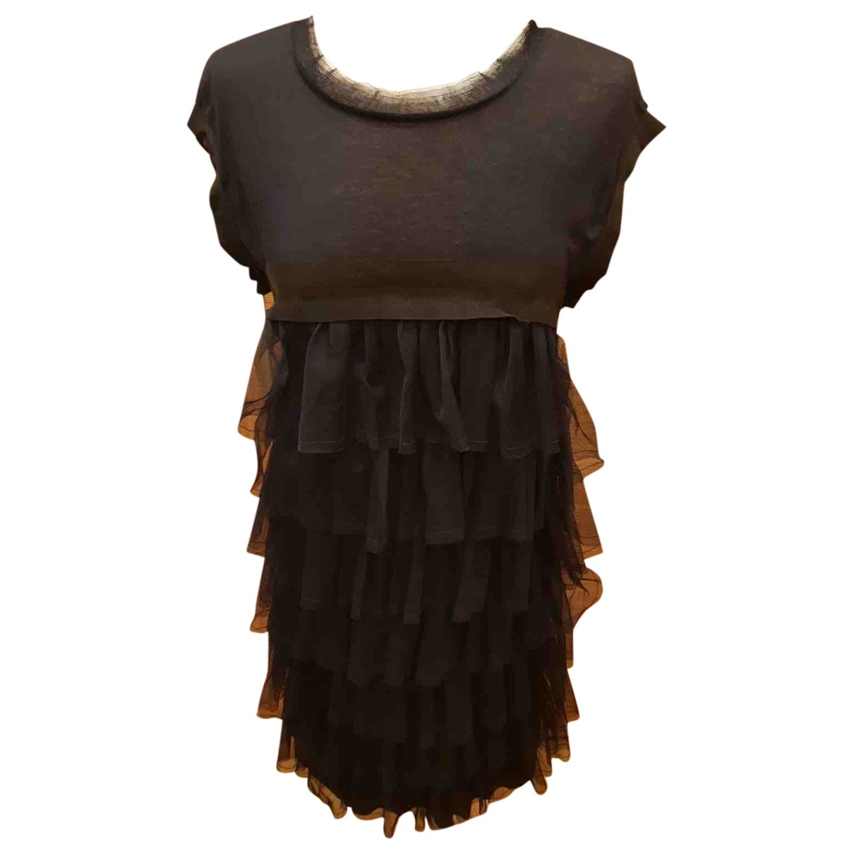 Lanvin \N Kleid in  Marine Wolle