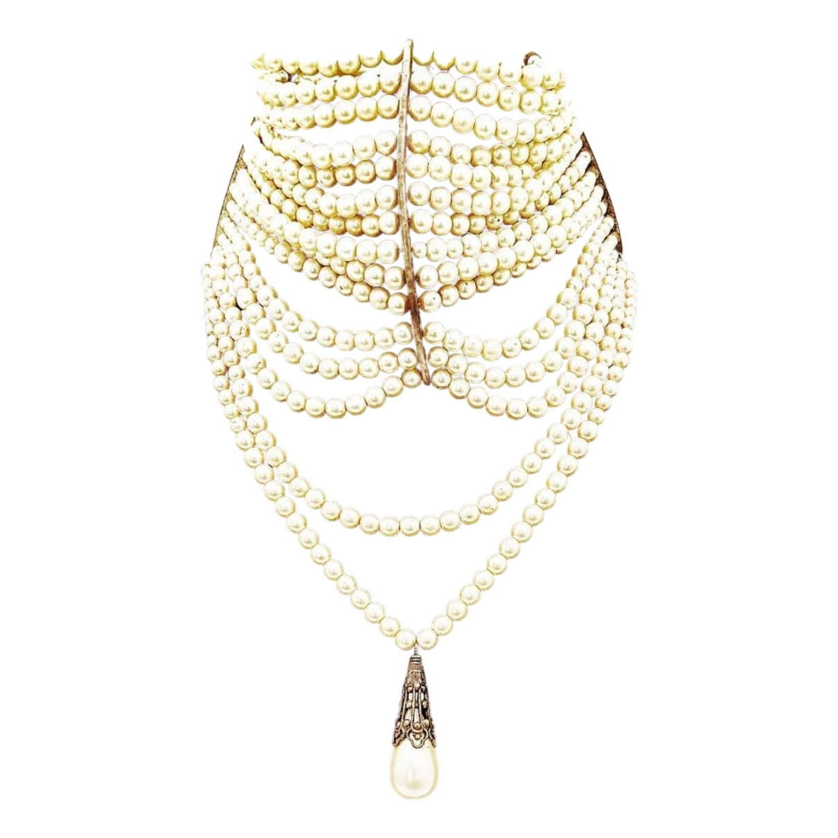 Dior \N White Pearls necklace for Women \N