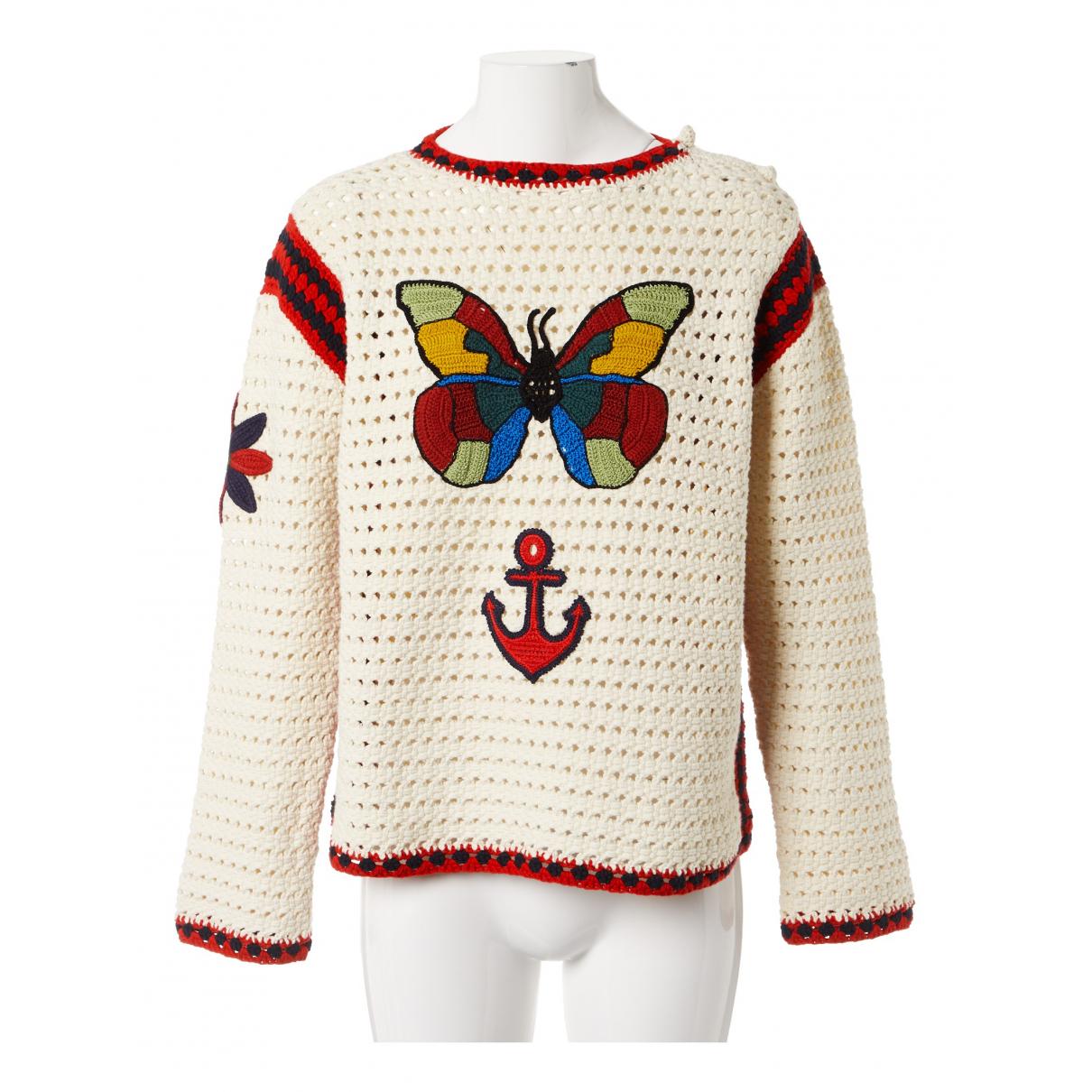 Gucci - Pull   pour femme en coton - ecru