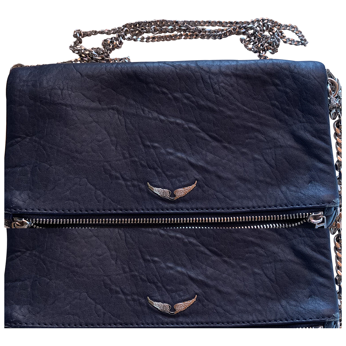 Zadig & Voltaire N Blue Leather Clutch bag for Women N