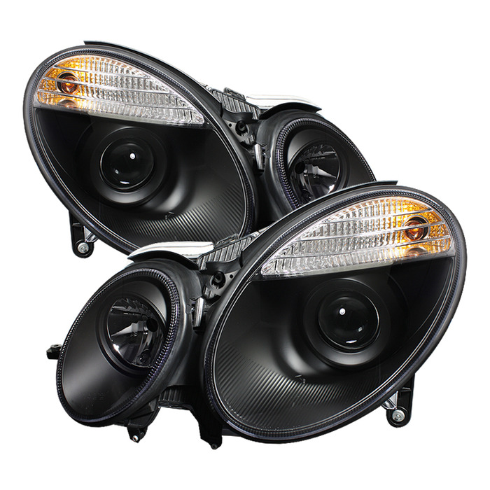 Spyder Auto PRO-YD-MBW21107-BK Black Projector Headlights with High H7 and Low H7 Lights Included Mercedes Benz E550 with Halogen Lights 07-09