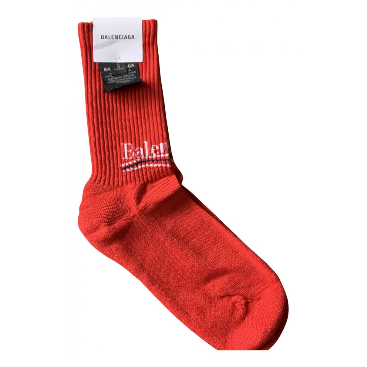 Balenciaga - Baskets   pour homme en toile - rouge