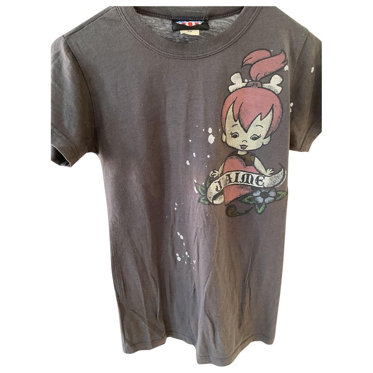 Non Signé / Unsigned \N Grey Cotton  top for Women M International