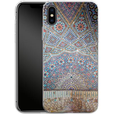 Apple iPhone X Silikon Handyhuelle - Iranian Mosaic von Omid Scheybani