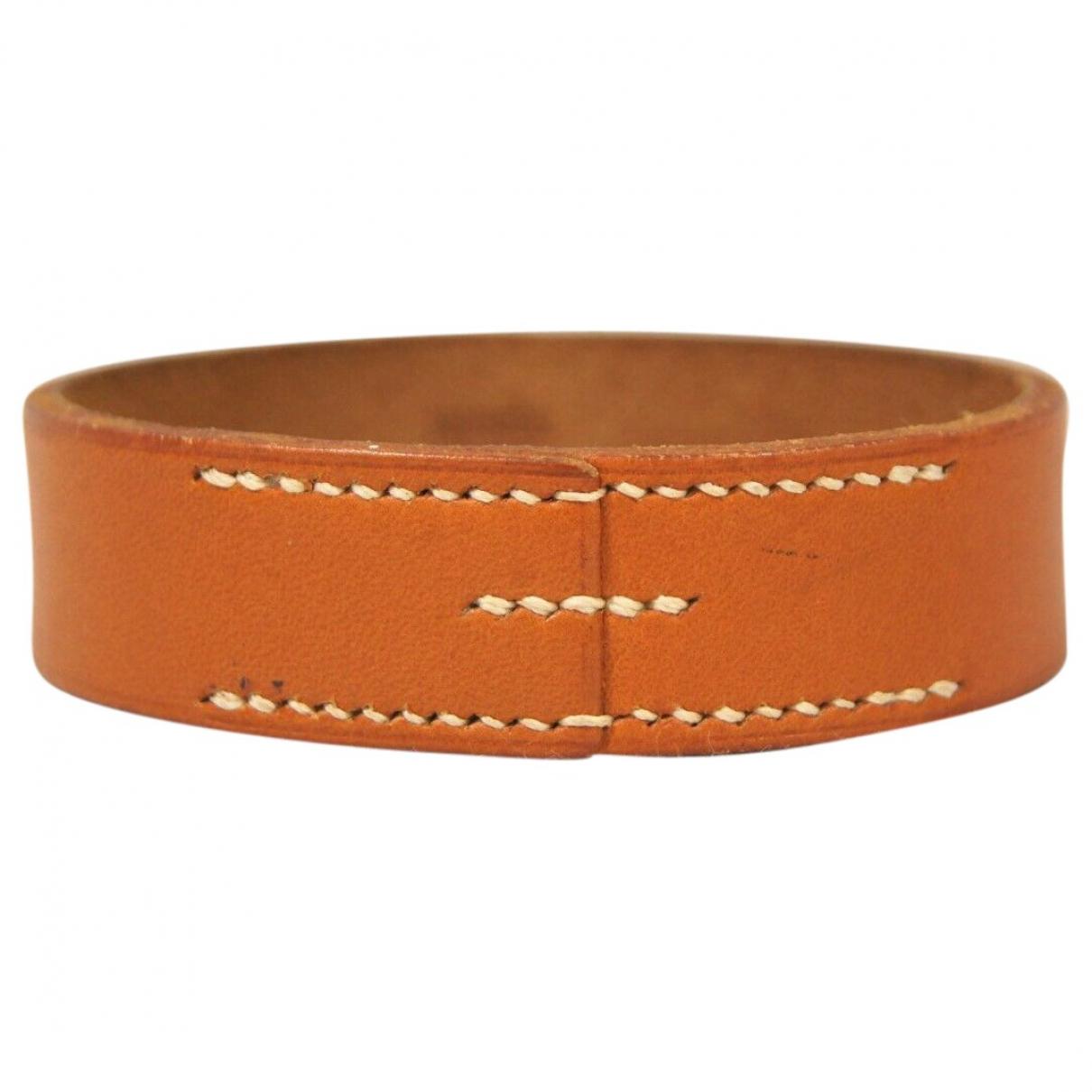 Hermès \N Camel Leather bracelet for Women \N