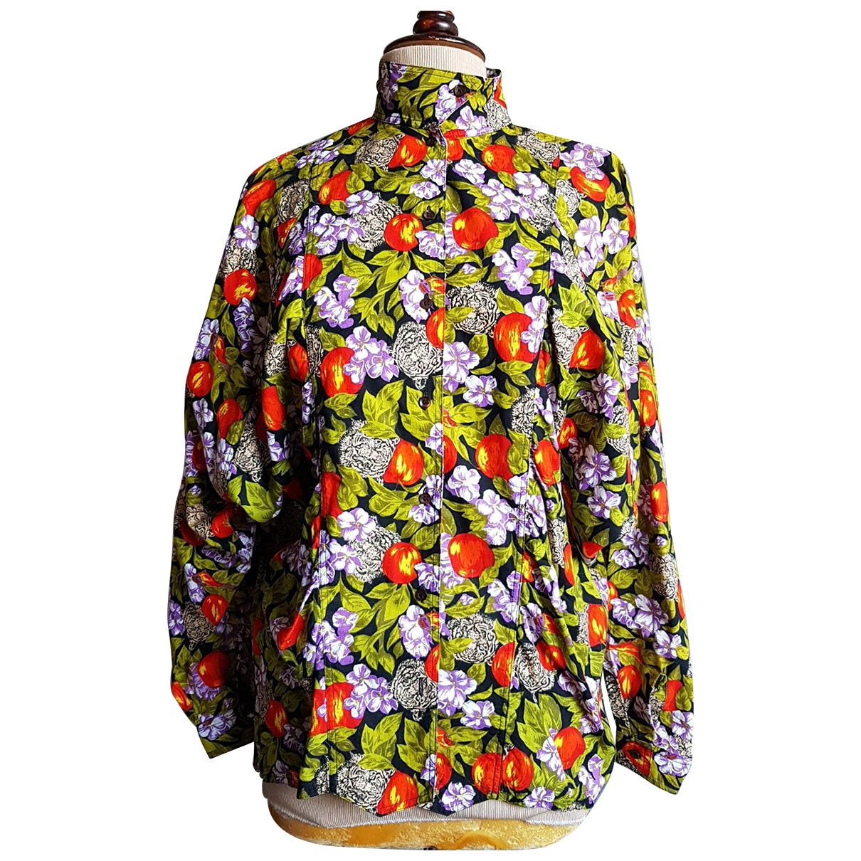 Non Signé / Unsigned Oversize Multicolour Cotton  top for Women L International