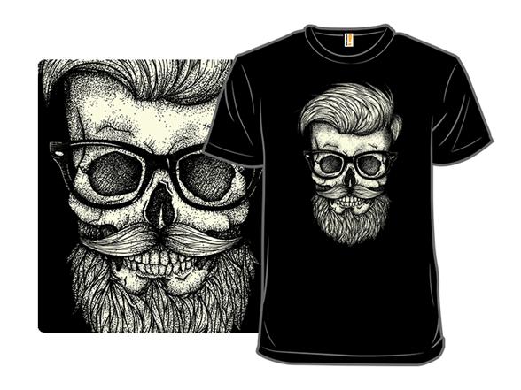 Hipster Skull T Shirt