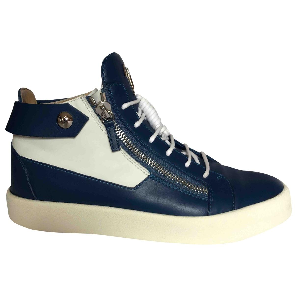 Giuseppe Zanotti \N Sneakers in  Blau Leder