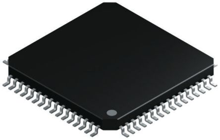 Microchip USB2504-JT, USB Controller, 3-Channel, 480Mbps, USB 2.0, 64-Pin TQFP