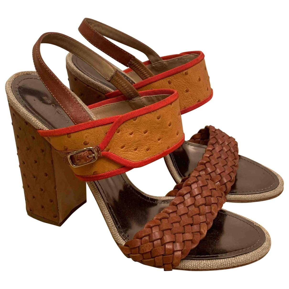 Sandalias de Avestruz Proenza Schouler