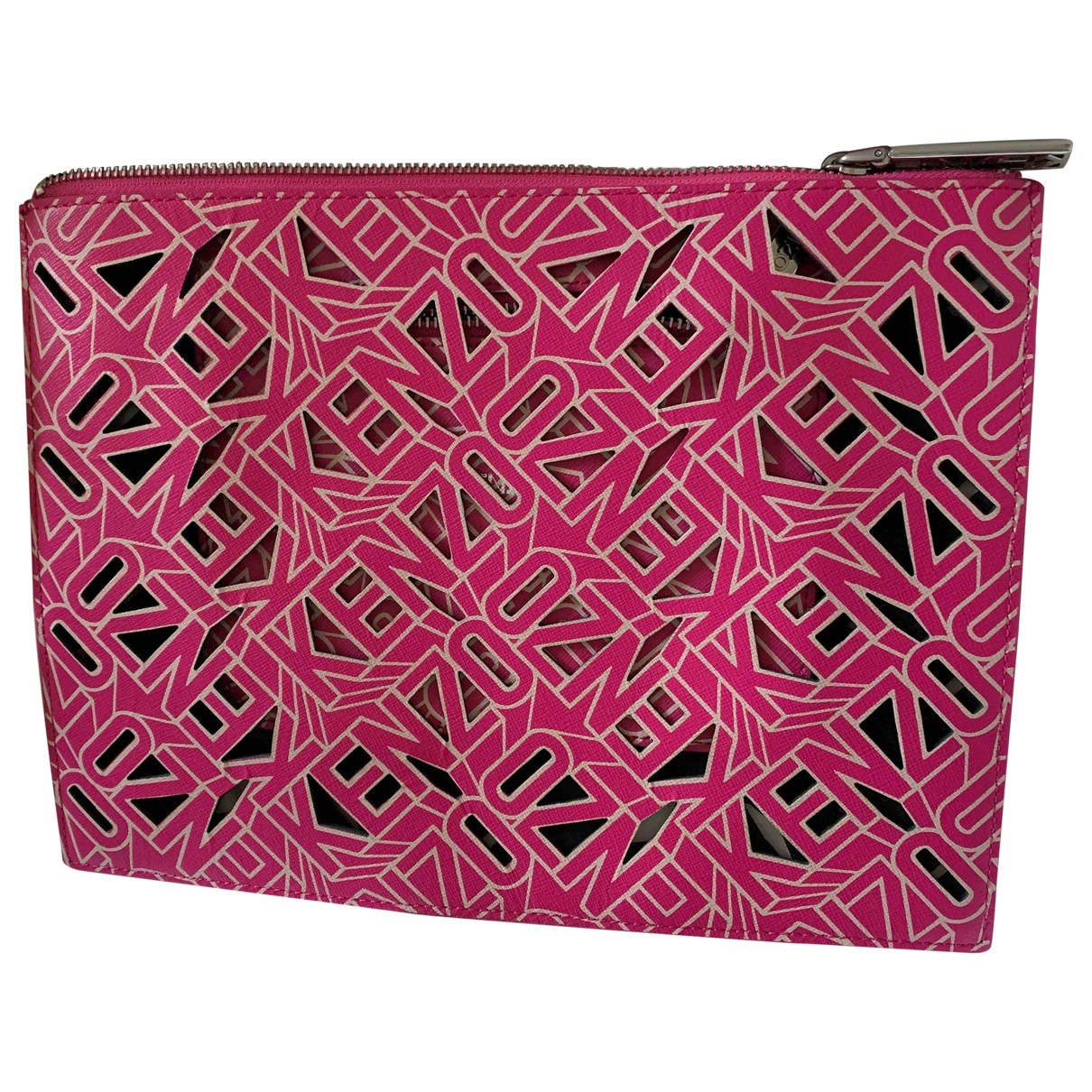 Kenzo - Petite maroquinerie   pour femme en cuir - rose