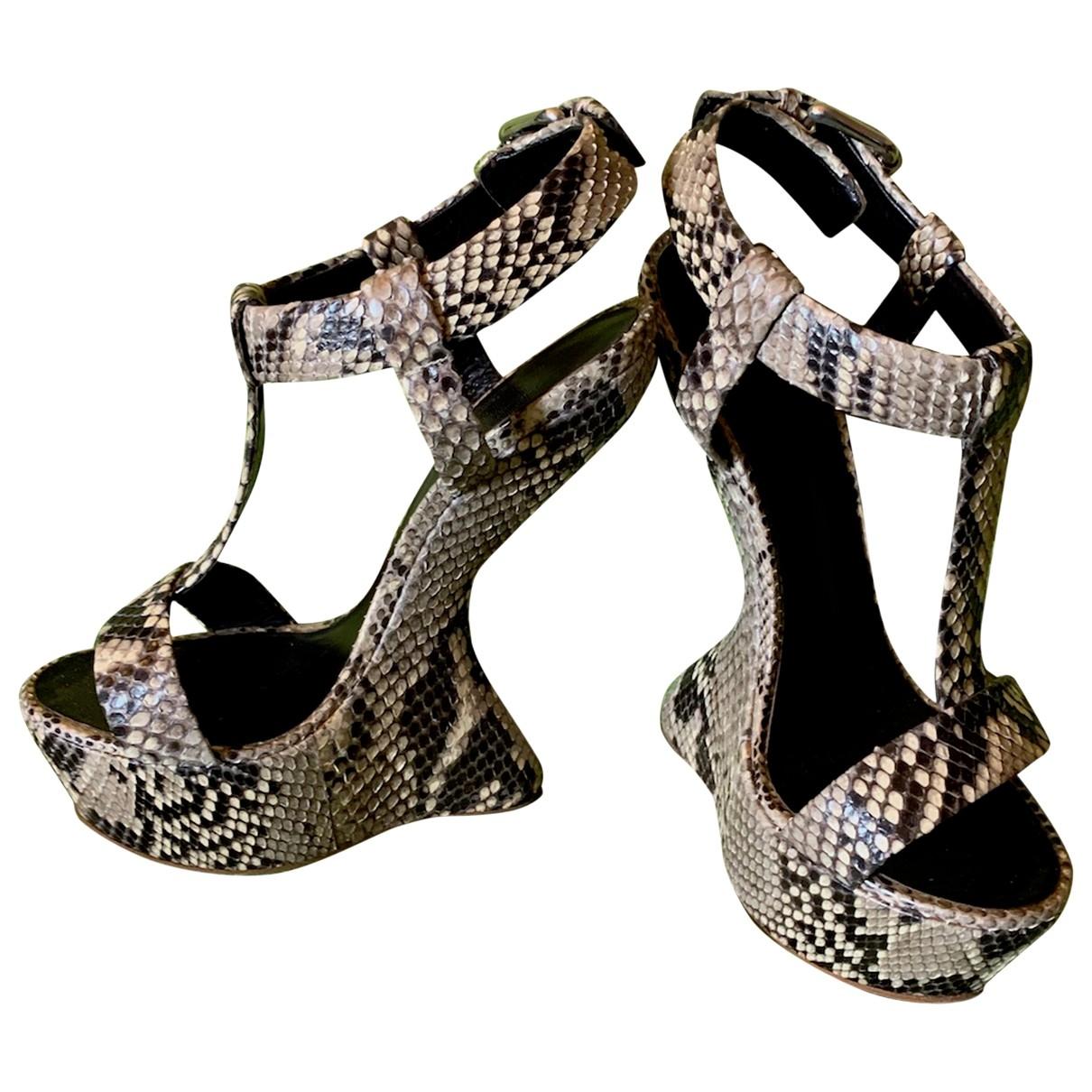 Giuseppe Zanotti \N Beige Python Sandals for Women 39 IT