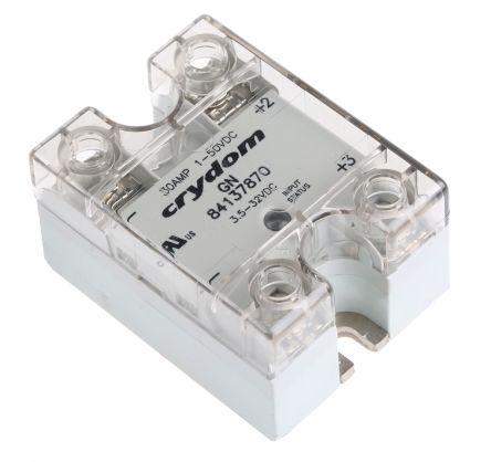 Sensata / Crydom 30 A dc Solid State Relay, Zero Crossing, Panel Mount, MOSFET, 50 V dc Maximum Load