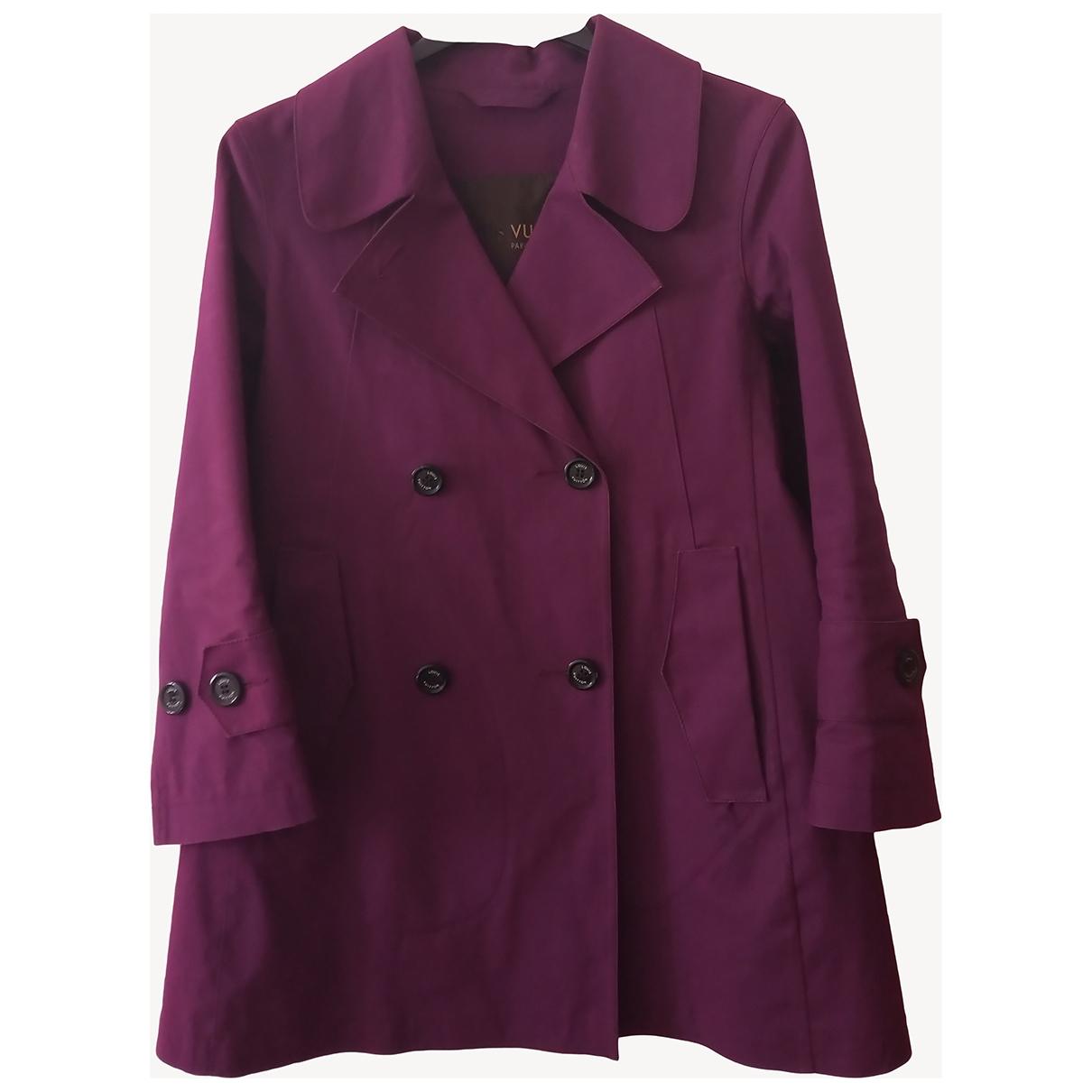 Louis Vuitton - Trench   pour femme en coton - violet