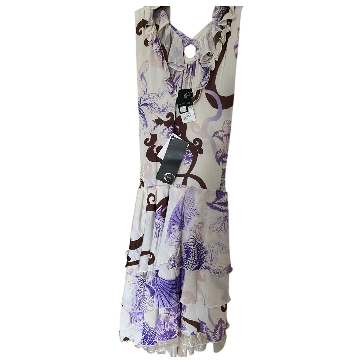 Just Cavalli \N Kleid in  Beige Polyester
