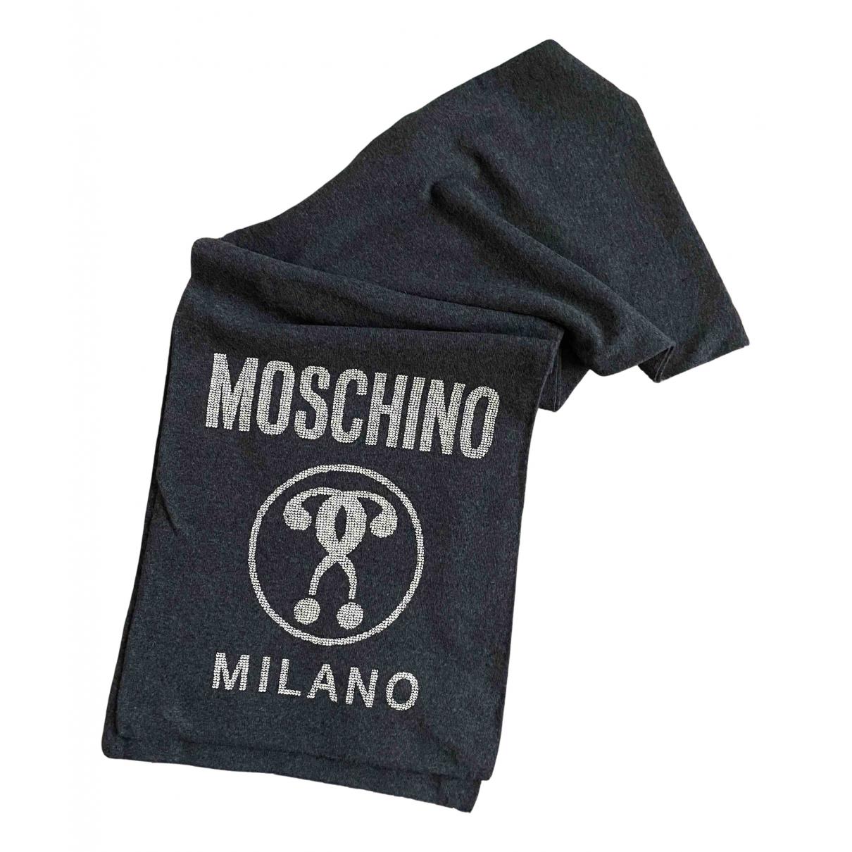 Moschino N Grey Wool scarf & pocket squares for Men N