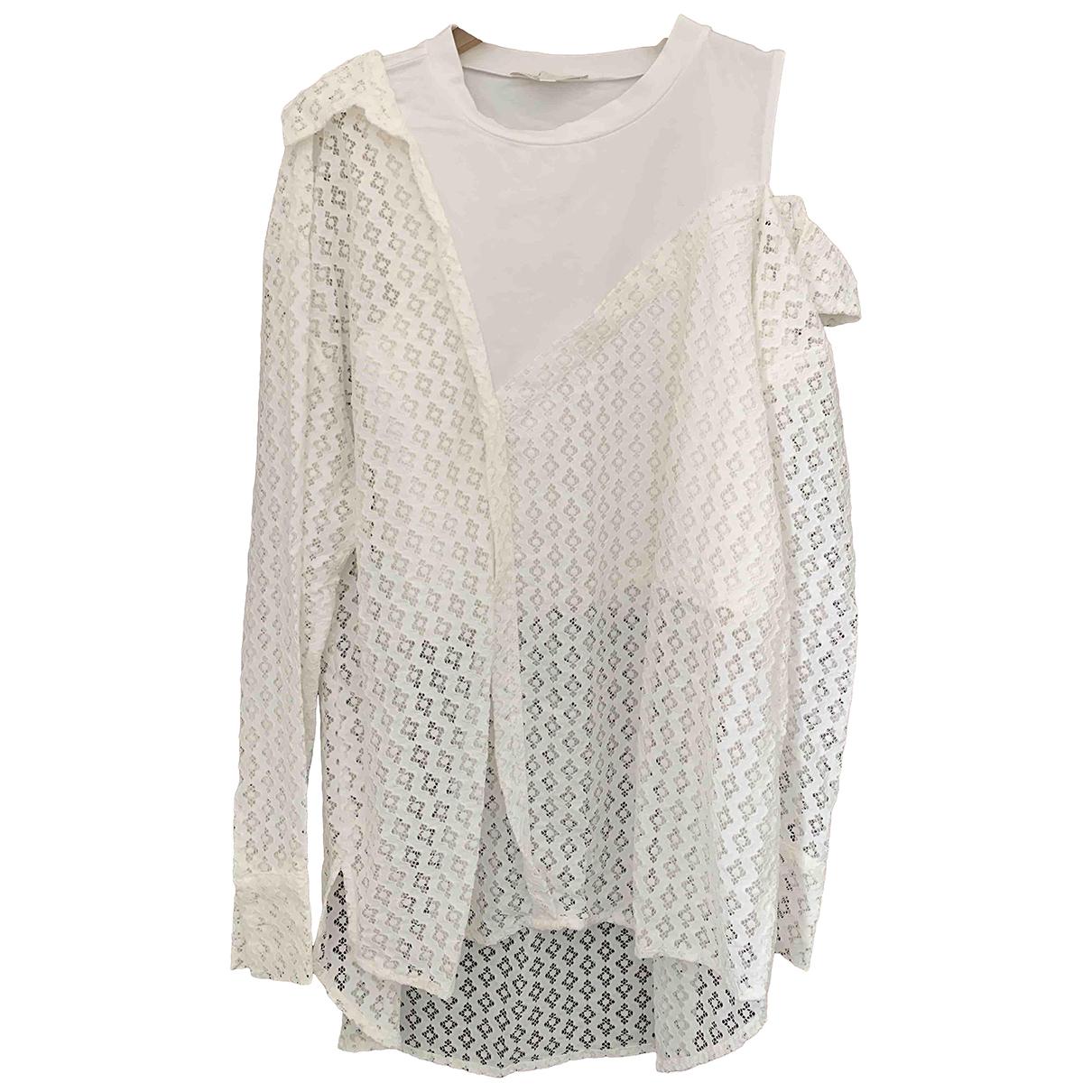 Maje - Top Spring Summer 2019 pour femme en coton - blanc