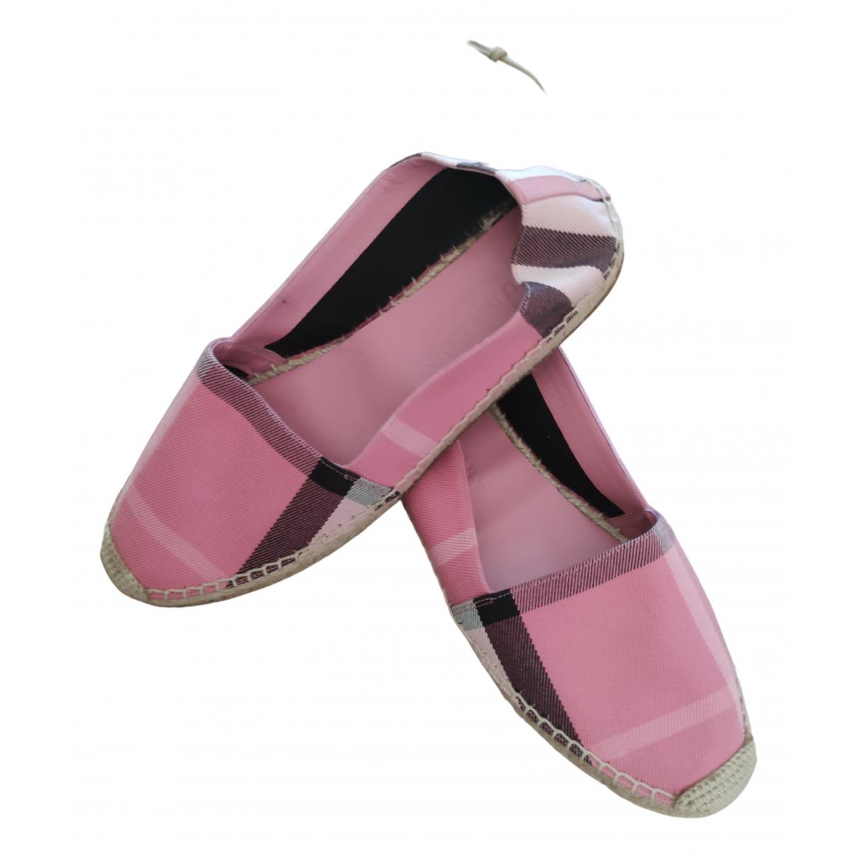 Burberry - Espadrilles   pour femme en toile - rose