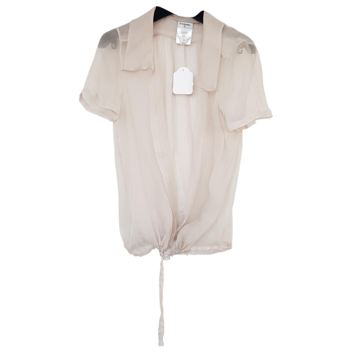 Chanel - Top   pour femme en soie - beige