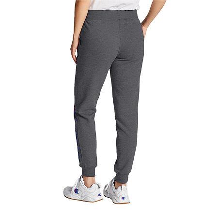 Champion Fleece Logo Womens Jogger Pant, Medium , Gray