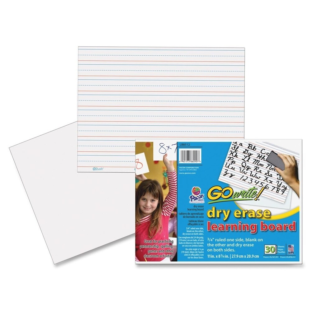 GoWrite! Dry Erase Learning Boards - 30 Sheets (Master)
