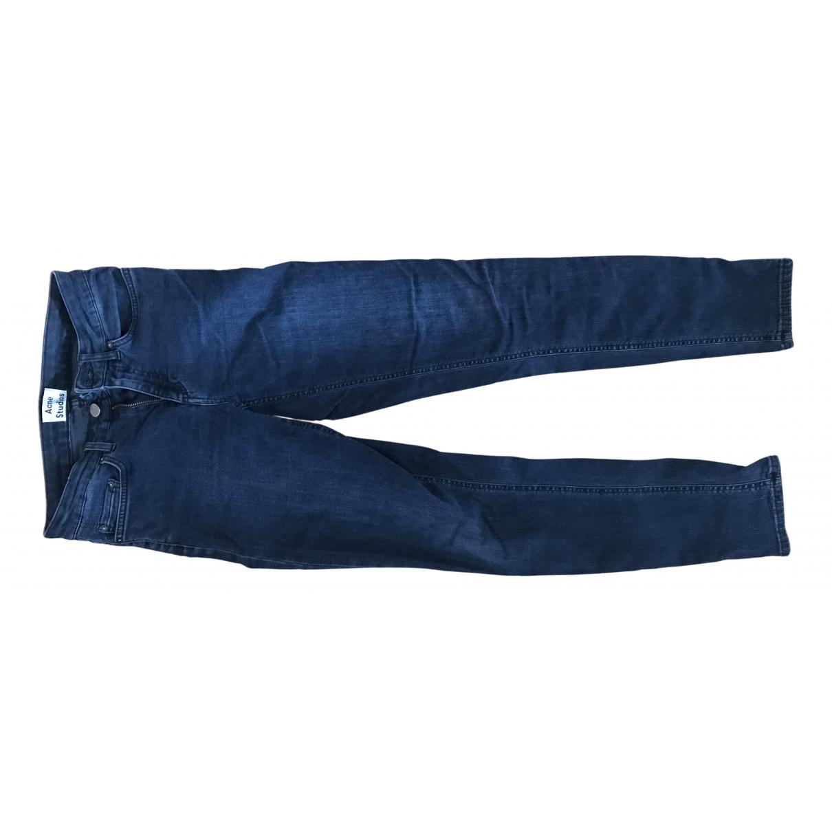 Acne Studios Skin 5 Navy Cotton Jeans for Women 25 US