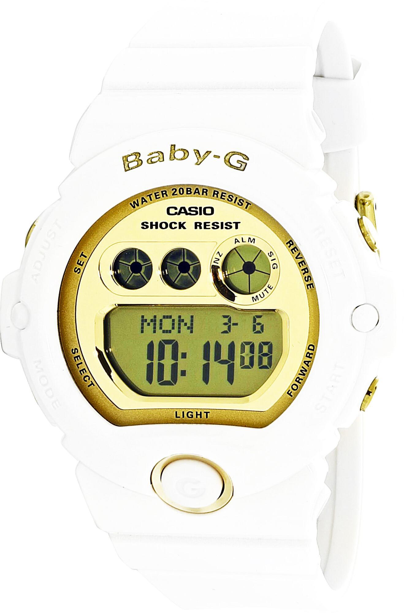 Casio Women's Baby-G BG6901-7 White Plastic Quartz Diving Watch