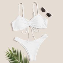 Bikini Badeanzug mit Kordelzug vorn