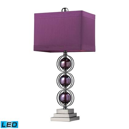 D2232-LED Alva Contemporary LED Table Lamp  In Black Nickel And