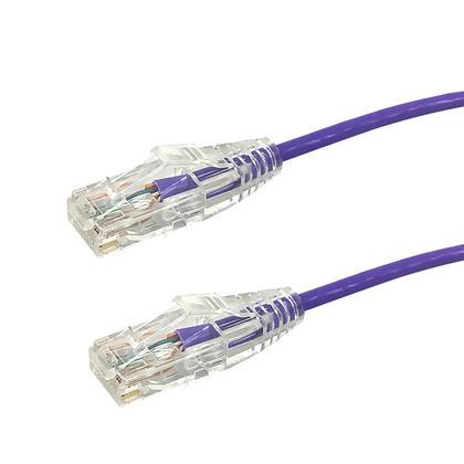 Câble de raccord ultra-mince Cat6 UTP - violet - 6pi