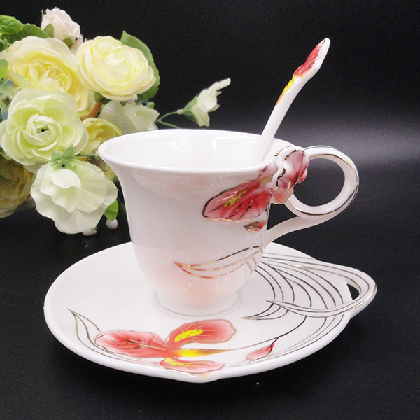 Wonderful 3D Iris Design Ceramic Coffee Cup