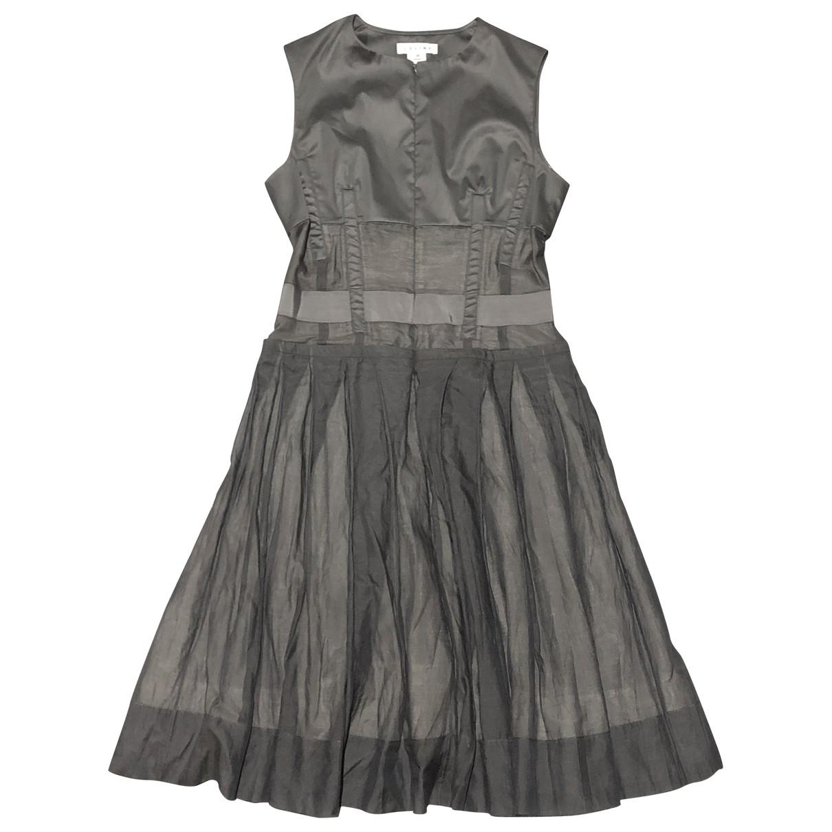 Celine \N Grey Silk dress for Women 38 FR