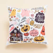 Kissenbezug mit Halloween Muster ohne Fuelle